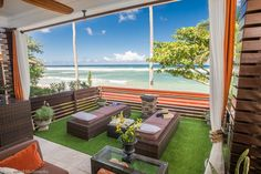 Rent Fronts. Haleiwa Vacation Rental - VRBO 460595 - 1 BR North Shore Oahu Studio in HI, Sandy Beach Ocean Front Guest House 'Brand New'