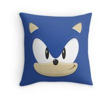 'Sonic the hedgehog face' Throw Pillow by gingerraccoon Sonic Birthday Parties, Sonic Party, Kids Pillows, Throw Pillows, Marvel Cross Stitch, Car Seat Pillow, Felt Pillow, Sonic And Shadow, Sewing Pillows
