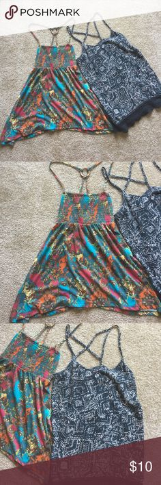 Summer tank tops Left tank is a small but can fit a medium, right tank is a medium. Both are in GUC, nice and flowy for summer! Mossimo Supply Co. Tops Tank Tops