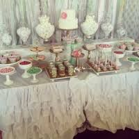 green wedding dessert table - Google Search