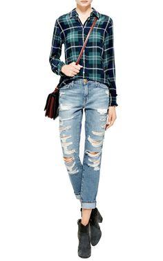 The Fling Distressed Jeans by Current/Elliott - Moda Operandi