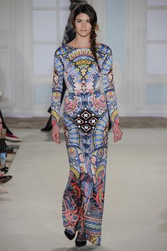 Temperley London | Fall 2014 Ready-to-Wear Collection | Style.com | Long sleeve kaleidoscope print maxi dress