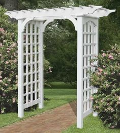 I found this photo on countrysidewoodcrafts.com and am thinking of something like this in my garden make-over.