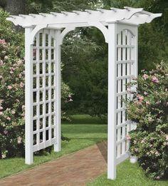 arbor and trellis on Pinterest | Arbors, Rustic Arbor and Garden Arbor