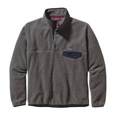 Men's Lightweight Synchilla Snap-T Pullover - Nickel w/ Navy