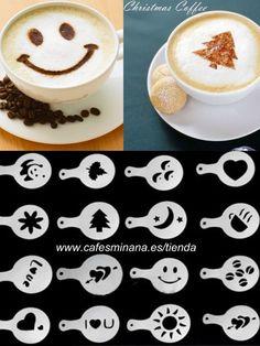 Crea espectaculares arte latte muy fácilmente con nuestro pack de 16 plantillas para capuchino, no te quedes sin ellas!  www.cafesminana.es/tienda  #plantillascapuchino #coffeestencils #CafésMiñana #artelatte #latteart