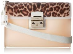 Furla Candy Vanilla M Pochette With Print Cross Body Bag Magnolia Toni Naturali �