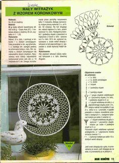 "Photo from album ""Moje robotki on Yandex. Mandala Au Crochet, Crochet Stars, Crochet Circles, Crochet Stitches Patterns, Doily Patterns, Hobbies And Crafts, Crafts To Make, Dreamcatcher Crochet, Dream Catcher Patterns"