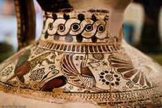Detail from an Oinochoe (a wine jug and a key form of Greek pottery, 620-610 BC). Izmir.