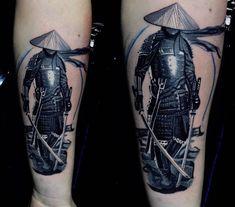 Samurai tattoo by Max at Holy Grail Tattoos