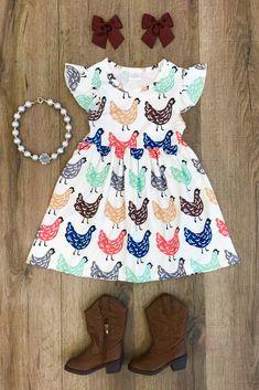 The Happy Hen Cap Sleeve Dress