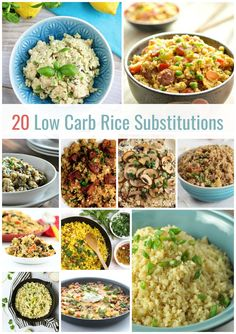 20 Best Low Carb Rice Substitution Recipes via @peaceloveandlocarb