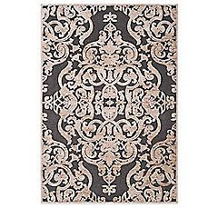 image of Safavieh Paradise Collection Venetian Damask Rug in Stone Anthracite