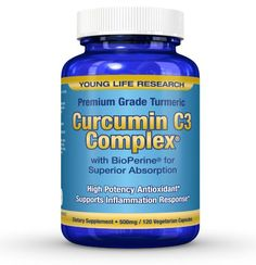 Curcumin C3 Complex with BioPerine (Won't work without this). Non-GMO, 500mg, 120 Vegetarian Capsules ? 100% MONEY BACK GUARANTEE ? by Young Life Research http://www.amazon.com/Curcumin-BioPerine-Vegetarian-Capsules-GUARANTEE/dp/B00G5MCABY