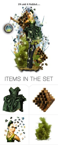 """""""I'm a puzzle.."""" by poshtrish ❤ liked on Polyvore featuring art"""