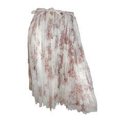 1stdibs.com   Hermes romantic silk wrap skirt