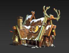 Reindeer blacksmith, del goni on ArtStation at https://www.artstation.com/artwork/knYXz