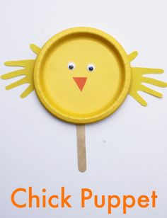 Easy Chick Paper Plate Craft for Kids! Perfect for Spring and Easter! by Coffee Cups and Crayons on FSPDT