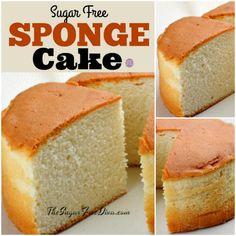 Sugar Free Sponge Cake Diabetic Desserts, Sugar Free Desserts, Sugar Free Recipes, Low Carb Desserts, Diabetic Recipes, Low Carb Recipes, Dessert Recipes, Cheesecake Recipes, Healthy Desserts