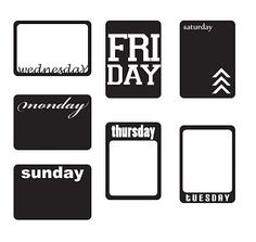 FREE cut file: Weekdays by KLDezign SVG #silhouette #cameo
