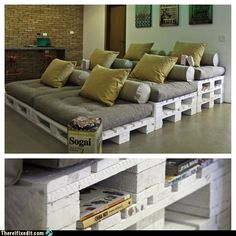 Pallet board movie seating.