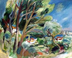 Rudolf Levy (Germany 1875-1944)  Sanary-sur-Mer Provence (1924)  oil on canvas laid down on panel