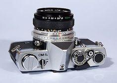 Olympus SLR Film Camera with lens Slr Film Camera, Camera Gear, Old Cameras, Vintage Cameras, Classic Road Bike, Classic Camera, Camera Equipment, Photography Accessories, Photography Camera