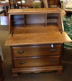 Secretary Desk W 3 Drawers By Newleafgalleries Via Flickr Past Nlg Inventory Pinterest