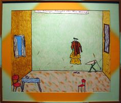 Hollis Sigler    She Always Thought She Was Wrong  1982  Lithograph Edition: 7/35