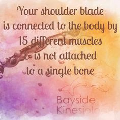 How many muscles are out of whack for you ATM?  Massage and Kinesiology WILL help
