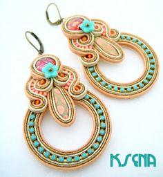 Made by Ksena: Kvetinka ako čerešnička na torte Soutache Earrings, Shibori, Fashion, Jewels, Accessories, Revenge, Moda, Fashion Styles, Fasion