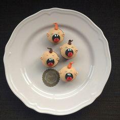 Cupcakes niños gritando. Minicupcakes de limón.