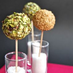 Roquefort Lollipops With Grapes and Pistachios: Present guests with these fab speared snacks and they'll def raise a toast to your ingenuity — after all, these grab-and-go bites will leave 'em with a free hand!
