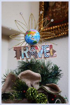 Travel theme Tree Topper