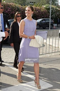Crown Princess Victoria of Sweden visits the Volvo Ocean Race Village during the first day of her visit two day to Lisbon on June 4, 2015 in Lisbon, Portugal.