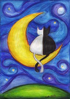 mooncats by ewung, via Flickr