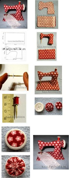 "Cute sewing machine pincushion. For more pincushion ideas, please see my board ""Pincushion & Sewing Kit Ideas"". :)"