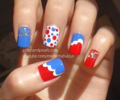 Fourth of July Nails - Polish and Pearls