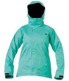2013 DC Reflect Snowboard Jacket Arcadia Green - Women's sz med