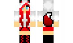 minecraft skin Red-Fox-Girl Minecraft Skins Red, Cool Minecraft, Fox Girl, Girl And Dog, Loom Beading, Beading Patterns, Mc Skins, Pattern Images, Diy And Crafts