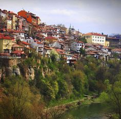 my favorite place in the world) Veliko Tarnovo, Bulgaria Bulgaria, Beautiful World, Beautiful Places, Bonifacio, Cinque Terre Italy, Living On The Edge, Beaux Villages, Belle Villa, Side