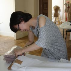 AOF MasterClass 4-week 2013 - Pleating with Atelier Lognon - AOF scholarship student Sun Young Choi (London College of Fashion) opening her package!