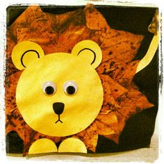 Lejon av höstlöv