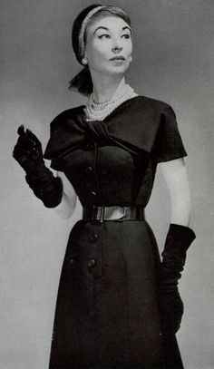 Ciao Bellissima - Vintage Glam; Model wearing Hubert de Givenchy, 1954