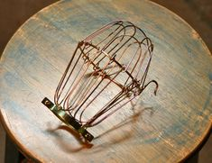 Brass Wire Bulb Cage Clamp On Lamp Guard For by SnakeHeadVintage, $5.99