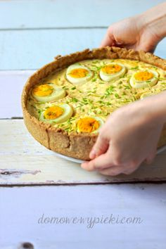 Wielkanocna tarta Easter Recipes, Holiday Recipes, My Favorite Food, Favorite Recipes, Vegetarian Recipes, Cooking Recipes, Christmas Party Food, Food Inspiration, Food To Make