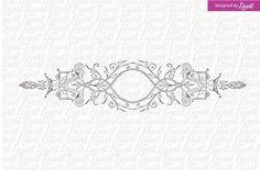 Luxury, Vintage Wedding Logo. Wedding Card Templates
