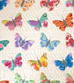 """48"""" x 48"""" NOTE: This is a PDF pattern that will be EMAILED to you instantly. If you'd prefer to have a printed pattern shipped to you, shop for """"Butterflies--pr"""