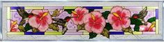 """Hummingbirds Hibiscus Horizontal Art Glass Panel Wall Hanging Suncatcher 10 x 42 by eEarthExchange. $91.95. 10.25""""H x 42""""W. Hooks are included for immediate placement. **  ** SHIPS UPS - Order BY DECEMBER 13 for CHRISTMAS DELIVERY **  **. Includes chain for immediate placement. Painted Tempered Glass MADE IN THE USA!!. Spectacular is the only word to describe the impact this hummingbird panel has on a room when sunlight illuminates its color and detail!  Zinc-framed, this i..."""