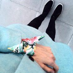 Silk Philosophy silk scarf bracelet